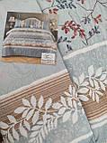 Летнее одеяло покрывало плед на кровать хлопок принт Цветы евро размер 200х230 см 2 наволочки 50х70 см Турция, фото 2