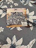 Летнее одеяло покрывало плед на кровать хлопок принт Цветы евро размер 200х230 см 2 наволочки 50х70 см Турция, фото 3