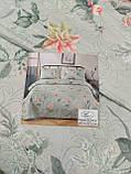 Летнее одеяло покрывало плед на кровать хлопок принт Цветы евро размер 200х230 см 2 наволочки 50х70 см Турция, фото 4