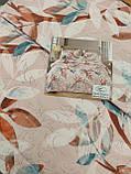 Летнее одеяло покрывало плед на кровать хлопок принт Цветы евро размер 200х230 см 2 наволочки 50х70 см Турция, фото 8