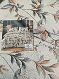 Летнее одеяло покрывало плед на кровать хлопок принт Цветы евро размер 200х230 см 2 наволочки 50х70 см Турция, фото 9