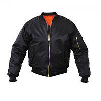 Куртка Rothco MA-1 Flight Jacket Marine Bulldog Black, фото 1