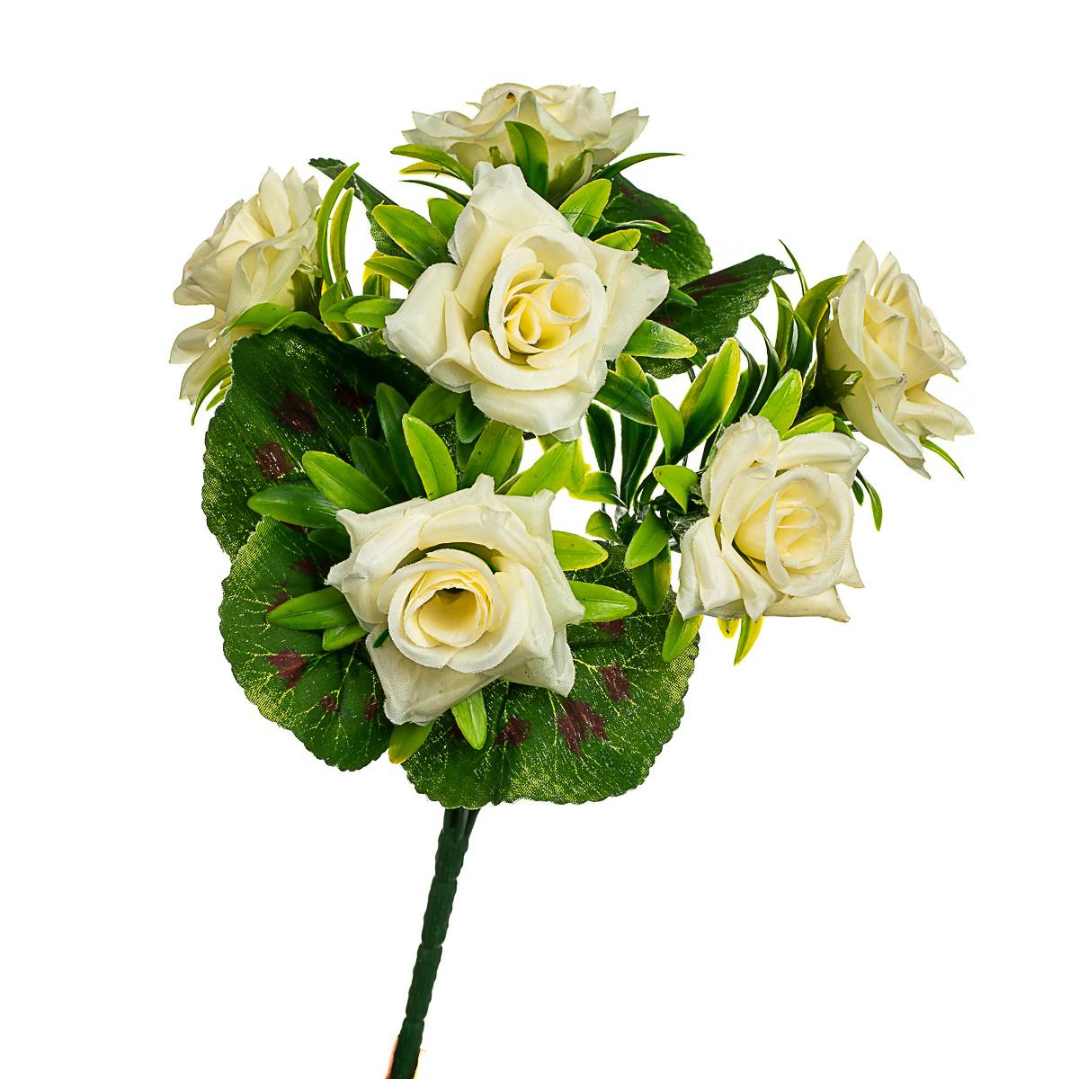 """Букет """"Троянди"""" білий 31 см"""