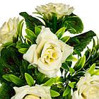 """Букет """"Троянди"""" білий 31 см, фото 2"""