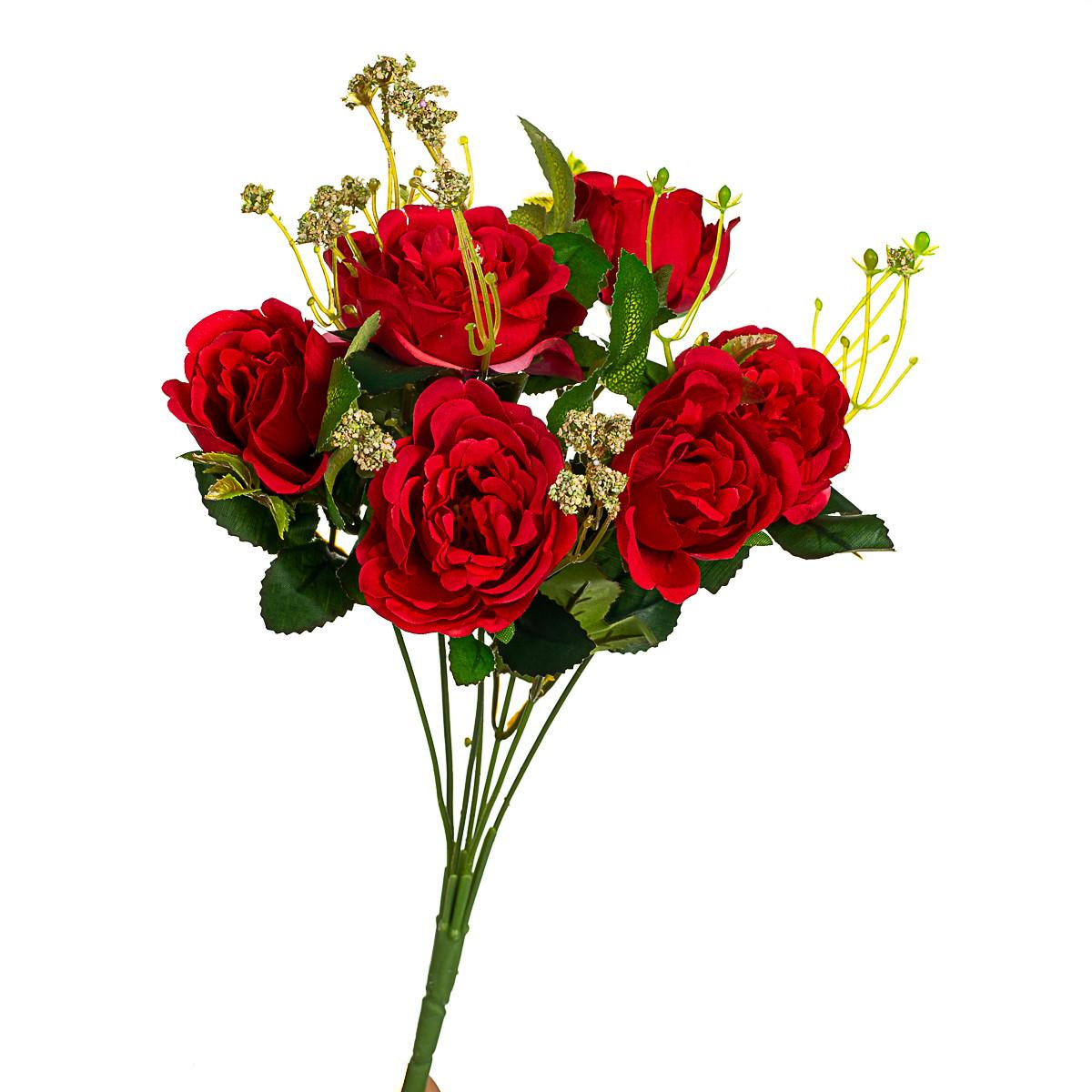 """Букет троянд """"Дам де кер"""", червоний 32см"""