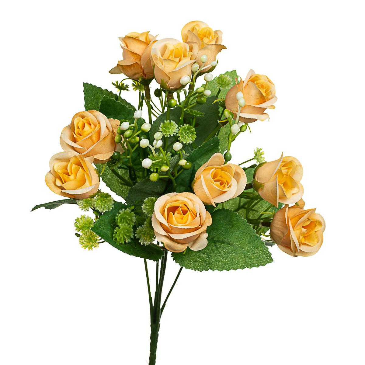 "Букет роз ""Суперстар"" желтый 30см"