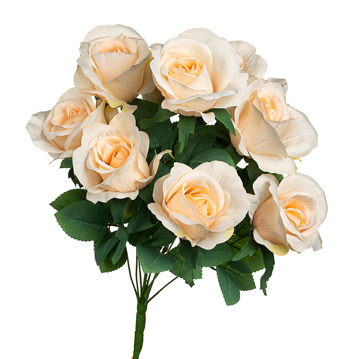 Букет кремових троянд 48см