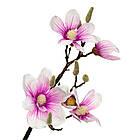Ветка цветущей магнолии 90 см, розовая, фото 2