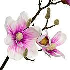Ветка цветущей магнолии 90 см, розовая, фото 3