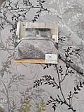 Літній ковдру покривало плед на ліжко бавовна принт квіти євро розмір 200х230 см 2 наволочки 50х70 см Туреччина, фото 6