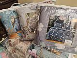 Літній ковдру покривало плед на ліжко бавовна принт квіти євро розмір 200х230 см 2 наволочки 50х70 см Туреччина, фото 7