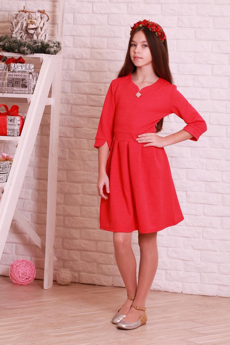 Красивое, модное, нарядное жаккардовое детское платье.