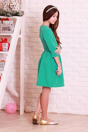 Красивое, модное, нарядное жаккардовое детское платье., фото 3