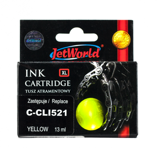 Картридж JetWorld Canon CLI-521Y Yellow
