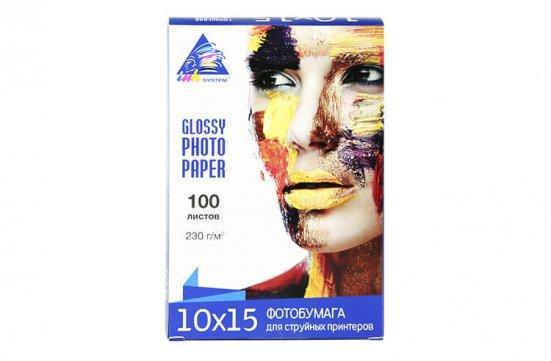 Глянцевий фотопапір INKSYSTEM Glossy Photo Paper 180g, 10x15, 100 аркушів