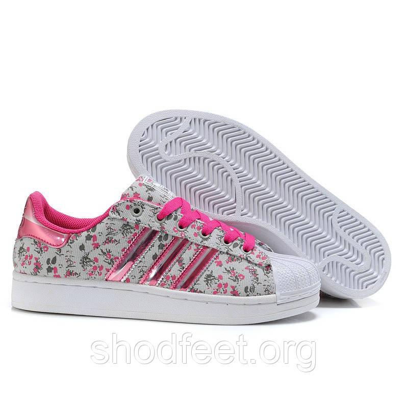Женские кроссовки Adidas Superstar 2 3D Floral