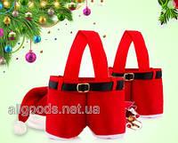 Сумка Штаны Санта Клауса, новогодняя упаковка M