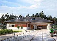 МS101 – это проект дома с мансардой и с гаражом