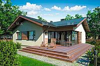 MS52 – Строительство дачного дома с террасой 104,6кв.м.