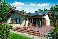 MS-008 – проект дачного дома с террасой