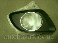 Решетка бампера переднего левая - хром  EC7RV 1068003045