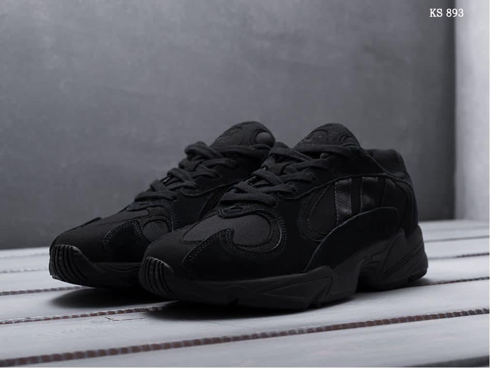 Мужские кроссовки Adidas Yung-1 (черные) KS 893