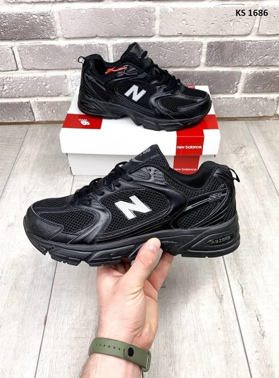 Чоловічі кросівки New Balance 530 abzorb (чорні) KS 1686