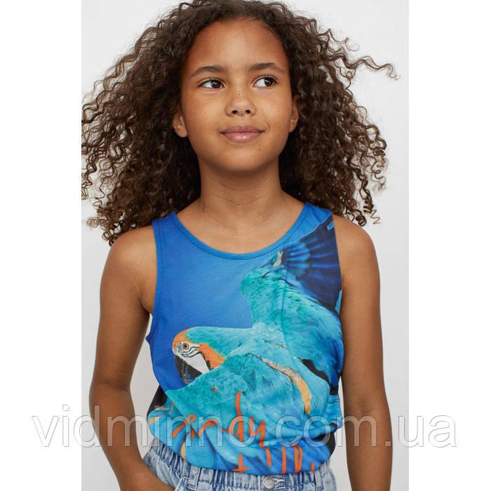 Дитяча укорочена майка Папуга H&M на дівчинку 8-10 років (р.134/140)