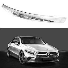 Захисна накладка на задній бампер для Mercedes-Benz A-Class V177 sedan 2018+ /нерж.сталь/