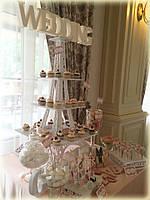 Свадебный Candy bar Кенди бар в персиковых тонах