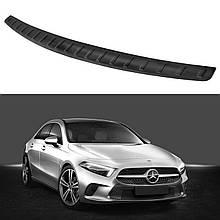 Захисна накладка на задній бампер для Hyundai Tucson NX4 2020+ /чорна нерж.сталь/