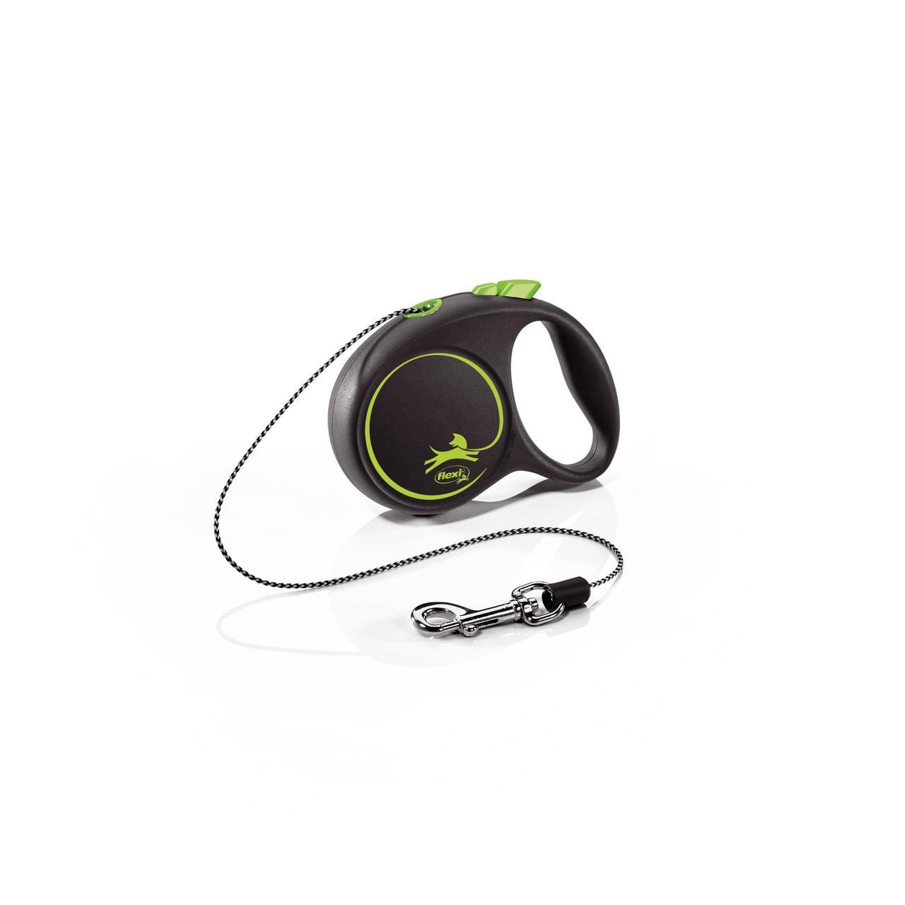 Поводок-рулетка Flexi с тросом Design XS 3 м / 8 кг зеленая