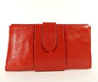 Купюрник, портмоне, кошелек кожаный женский красный