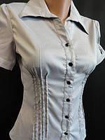 Женские блузы на пуговицах с коротким рукавом, фото 1