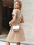 Однотонне плаття з бавовни з коротким рукавом, фото 7