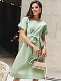 Однотонне плаття з бавовни з коротким рукавом, фото 2