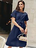 Однотонне плаття з бавовни з коротким рукавом, фото 9
