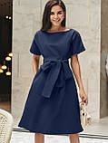 Однотонне плаття з бавовни з коротким рукавом, фото 8