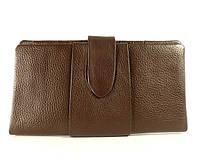 Купюрник, портмоне, кошелек кожаный женский коричневый