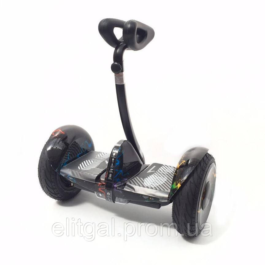 Гироскутер Mini Robot 10.5 36V Кольорова блискавка