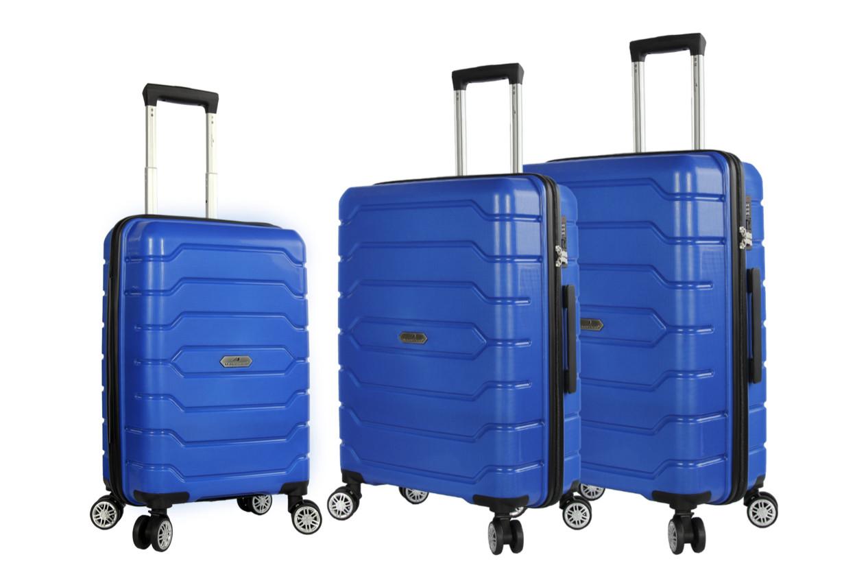 Валіза поліпропілен Франція малий S темно-синій 55*36*20 см см 36 л 2.6 кг Snowball 01103