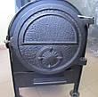Малая банная печь с круглой сеткой с выносной топкой ПК-18УК, фото 5