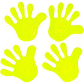 """Наклейка світловідбиваюча 4 штуки """"Рука"""" зі смайлом 130"""