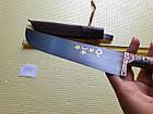 Нож узбекский. Пчак большой. Ручная работа. Рукоять рог., фото 7