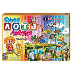 Настольная игра Супер лото Азбука Danko Toys LA2 (ЛА2)