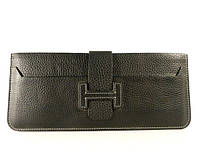 Купюрник, портмоне, кошелек кожаный Hermes унисекс, съемная визитница