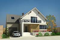 Проект дома MS103 с мансардой , гаражом и подвалом