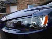 Реснички на фары Mitsubishi Lancer X 2007+ г.в., фото 1