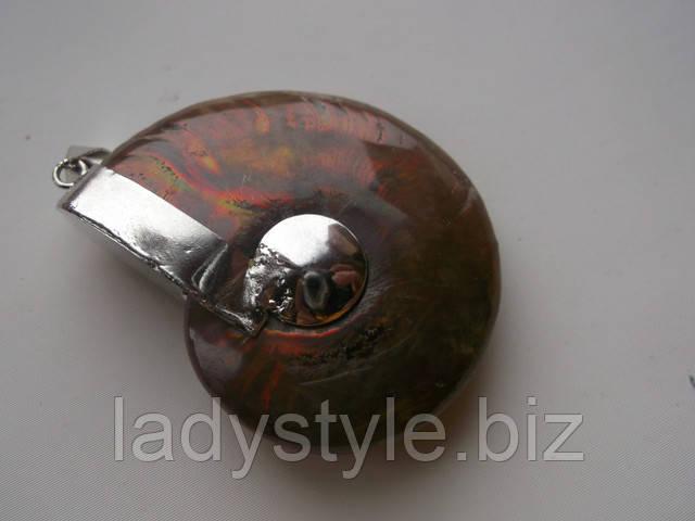 купить кулон подвеску с натуральными аммонитами серьги кольцо