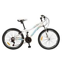 Спортивный велосипед 24 дюйма PROFI - Grand G24К329-1  (белый) на стальной раме